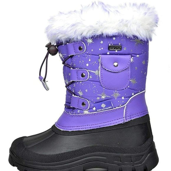 DREAM PAIRS Boys Girls Insulated Waterproof Snow Boots